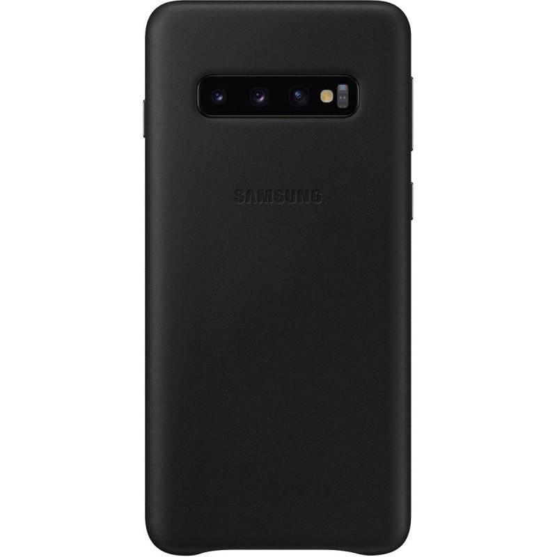 Husă Samsung Leather Cover (Black), Galaxy S10,