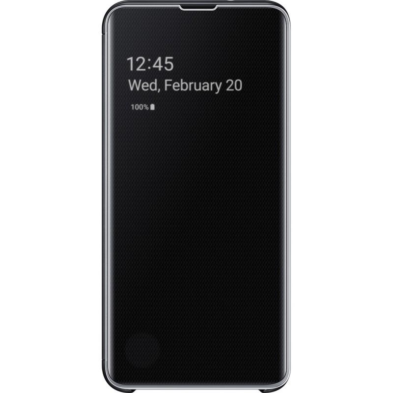 Husă Samsung Clear View Cover (Black), Galaxy S10e,