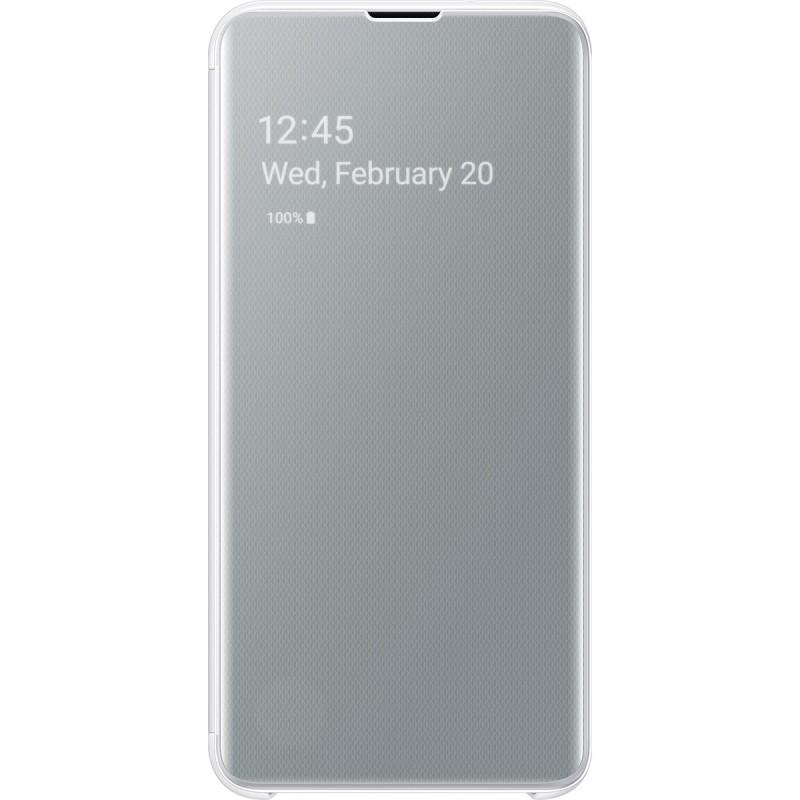 Husă Samsung Clear View Cover (White), Galaxy S10e,