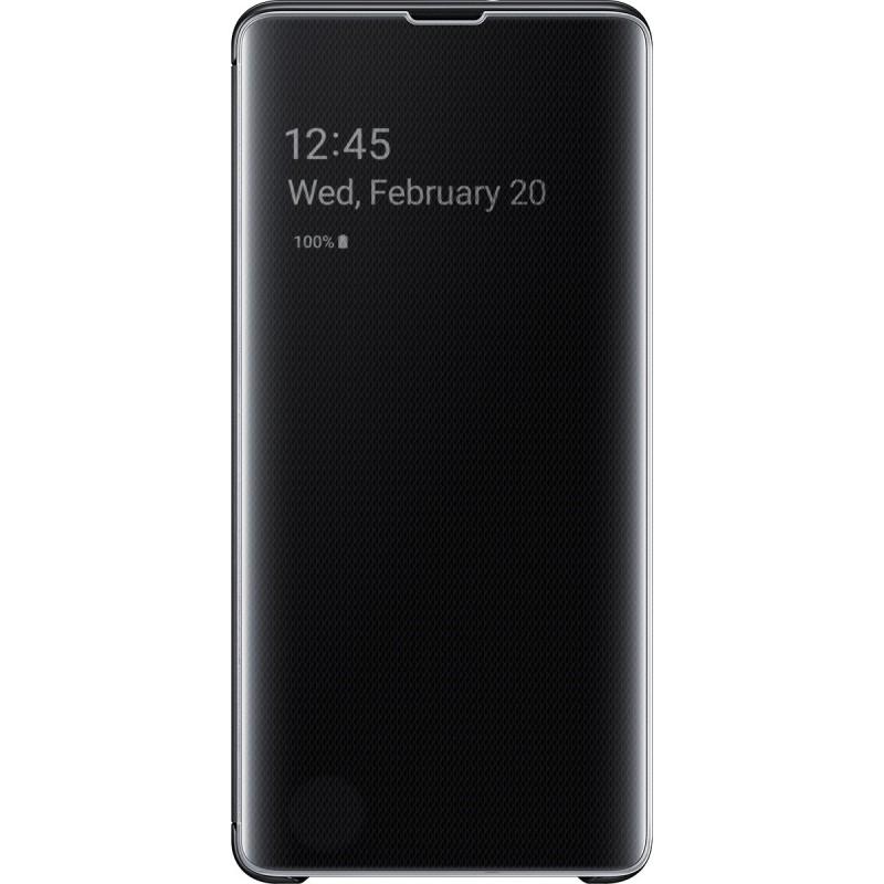 Husă Samsung Clear View Cover (Black), Galaxy S10+,